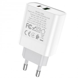 HOCO C80A NETWORK CHARGER PD20W/QC3.0 WHITE