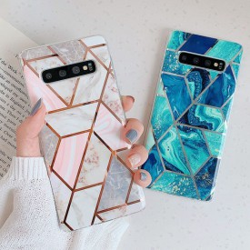 TECH-PROTECT MARBLE GALAXY A41 PINK