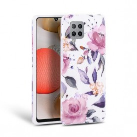 TECH-PROTECT FLORAL GALAXY A42 5G WHITE