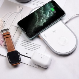 HOCO CW24 3IN1 WIRELESS CHARGER WHITE