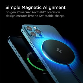 SPIGEN PF2009 POWERARC MAGNETIC MAGSAFE WIRELESS CHARGER 7.5W BLACK