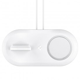 SPIGEN MAGFIT DUO APPLE MAGSAFE & APPLE WATCH CHARGER STAND WHITE