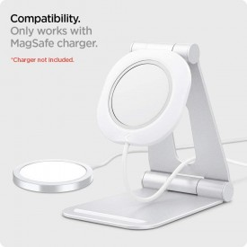 """SPIGEN MAGFIT """"S"""" APPLE MAGSAFE CHARGER STAND WHITE"""