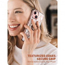SUPCASE IBLSN COSMO SNAP IPHONE 13 MARBLE PINK