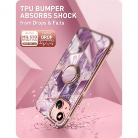 SUPCASE IBLSN COSMO SNAP IPHONE 13 MARBLE PURPLE