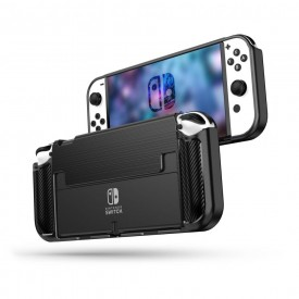 TECH-PROTECT TPUCARBON NINTENDO SWITCH OLED BLACK