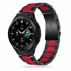 TECH-PROTECT STAINLESS SAMSUNG GALAXY WATCH 4 40 / 42 / 44 / 46 MM BLACK/RED