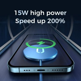 JOYROOM JR-A28 MAGNETIC MAGSAFE WIRELESS CHARGER 15W BLACK