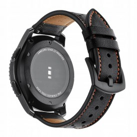 TECH-PROTECT LEATHER SAMSUNG GEAR S3 BLACK