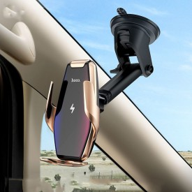 HOCO S14 CAR MOUNT WIRELESS CHARGER SILVER